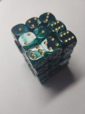 Dice /& Games Gem 36 x 12mm D6 Yellow D/&D RPG