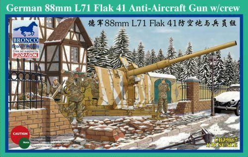 Bronco 1 35 88mm L71 Flak 41 AA Gun w  Crew CB35067
