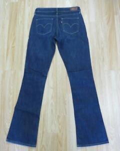 Levi's DEMI CURVE SKINNY BOOT Stretch Blue Jeans women's ladies denim W26 L32