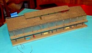 Ancienne-Grande-Gare-hall-quai-Maquette-a-restaurer-HO-jouet-Marklin-Vintage