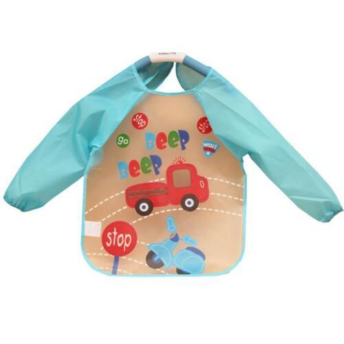 * vendeur britannique bébé enfant à manches longues imperméable alimentation art tablier bavoir à smocks