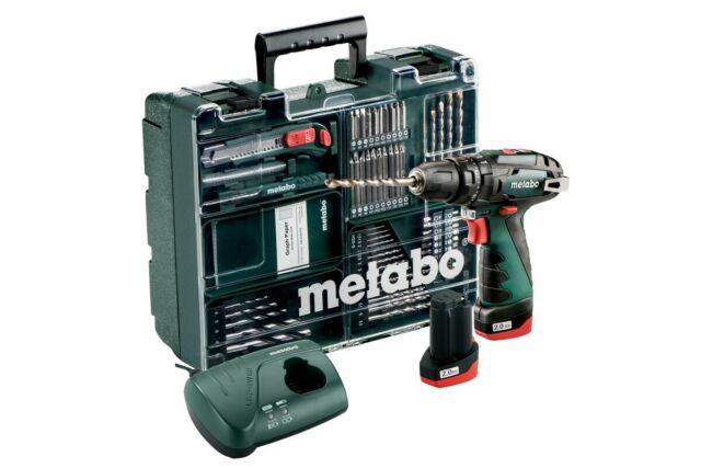 Taladro de Martillo a Batería Metabo Powermaxx Sb Basic con Kit Accesorios 10