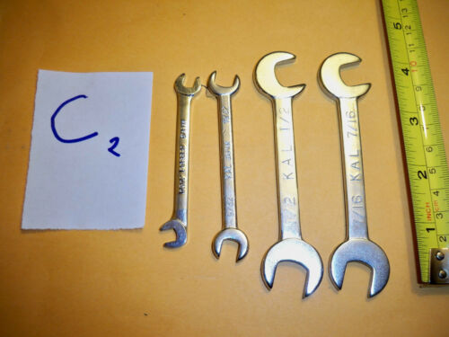 """4pc SAE  OPEN END WRENCHES IGNITON TYPE  WRENCH  /""""KAL/"""" NOS"""