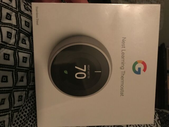 Google Nest T3007ES Smart Thermostat - 3rd Gen -New- UPC 854448003877