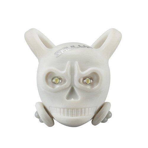 2 x Green LED/'s SKULLY Skull LED Front//Rear Detachable Light White