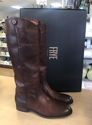 Melissa Button2 Redwood Women/'s 5.5 Frye Leather Tall Shaft Pull-on Boots