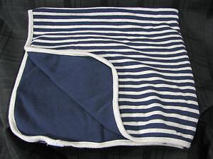 Gymboree 2010 Baby Boy Blanket Navy Blue Gray Daddys Daddy