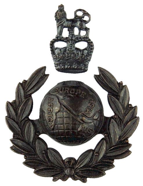 New OFFICIAL Royal Marines Officers 2 Part Cap / Beret Badge Bronze ( Commando