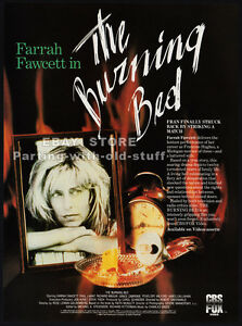 THE-BURNING-BED-Original-1986-print-AD-movie-promo-FARRAH-FAWCETT