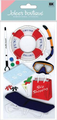 Jolee/'s CRUISE ACTIVITIES 3d Scrapbook Stickers