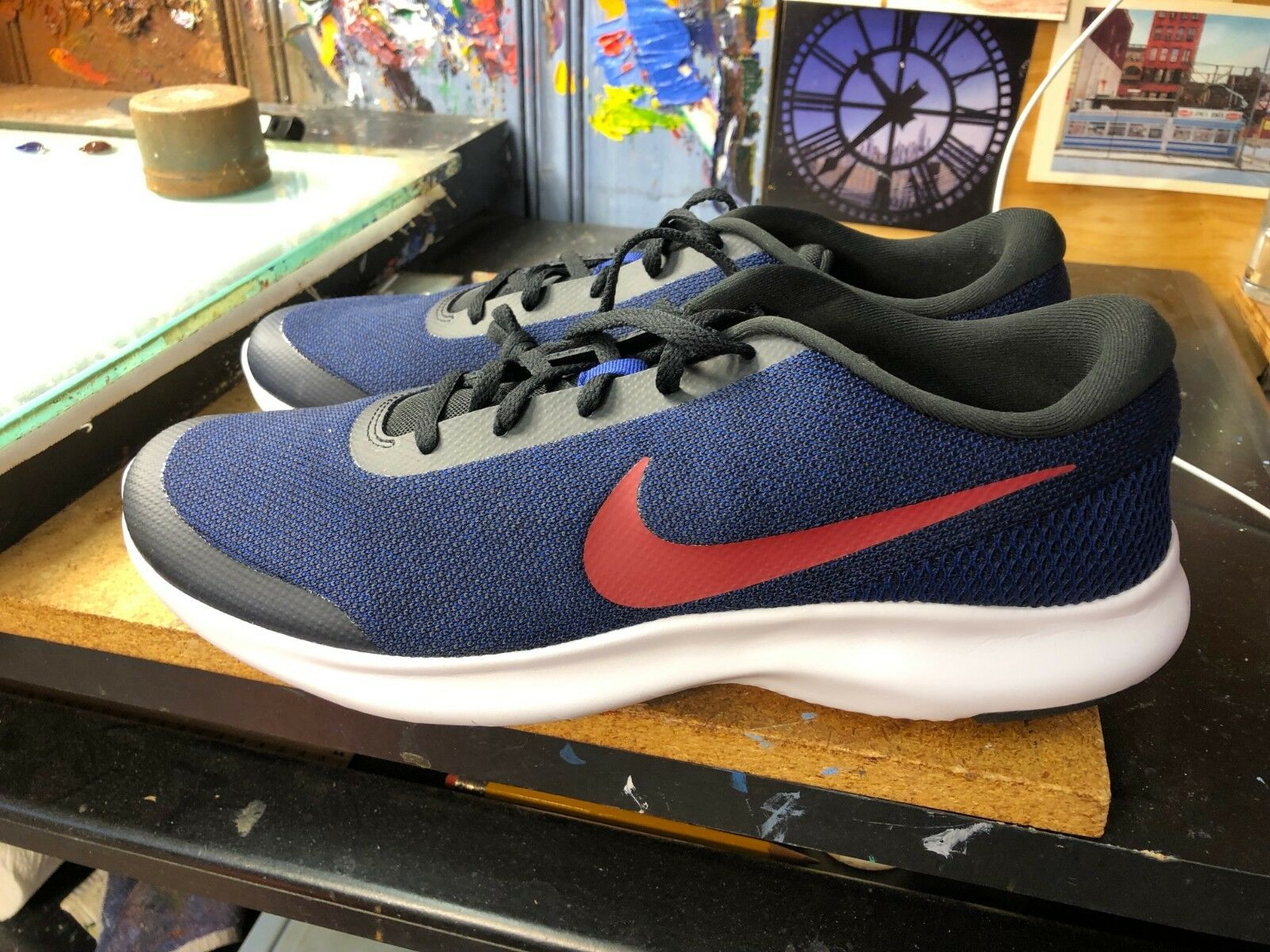 Nike Flex Experience RN 7 Black Red Crush bluee Running Size US 13 Men 908985 013