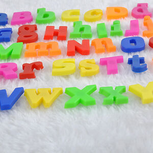 52PCS Alphabet Lower/Upper case Letters Fridge Magnets Child Toy Spelling Learn