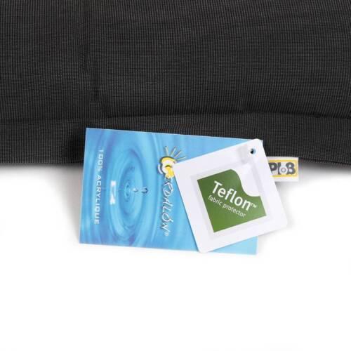 Dralon ®//teflon cuscino sedia per giardino /& Terrazza 6cm Dick 38x38cm ANTRACITE