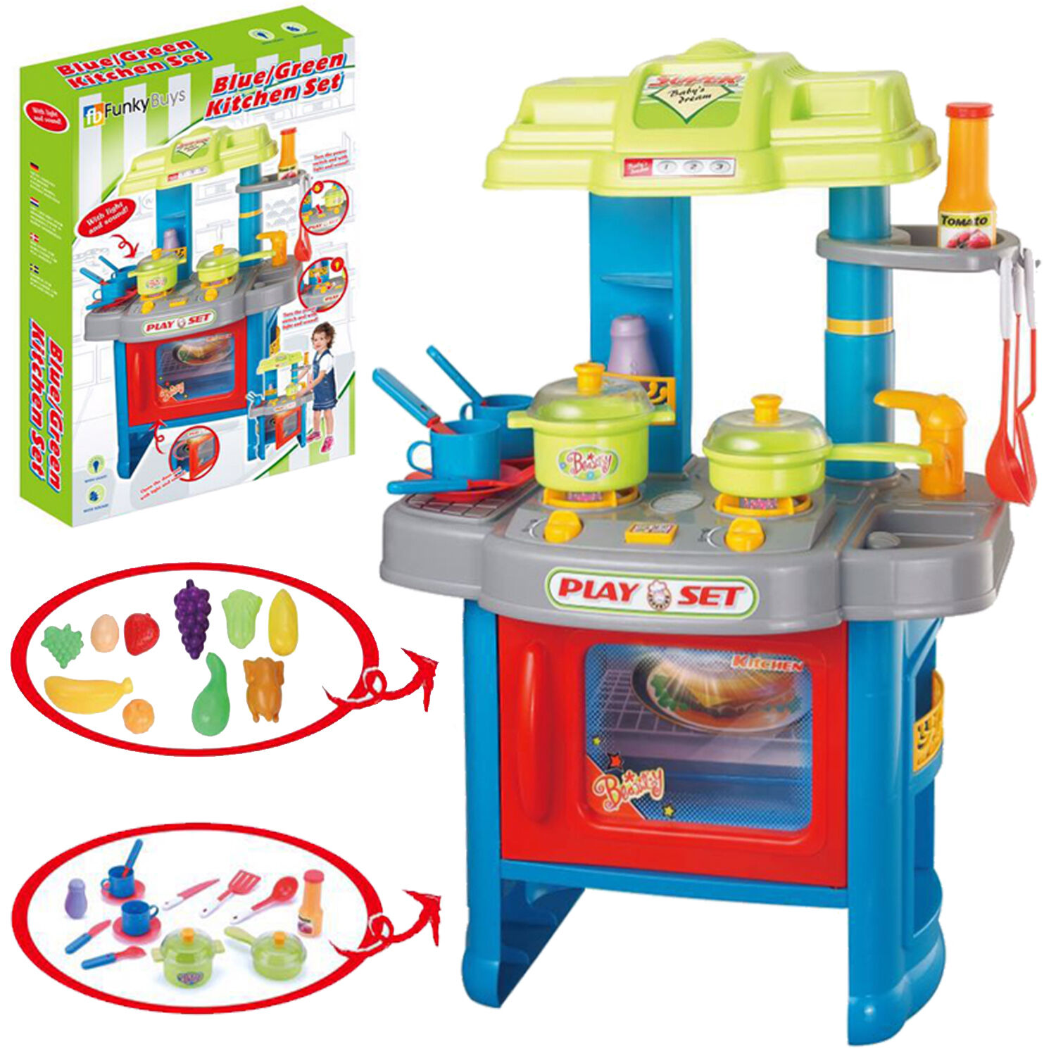 Electronic Kitchen Set: Portable Electronic Children Kids Kitchen Cooking Girl Toy