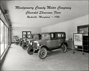 Details About Chevy Dealership Photo 8x10 Maryland 1926 B W
