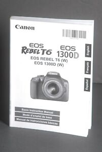 Canon-EOS-Rebel-T6-1300D-Camera-Instruction-Book-Manual-User-Guide