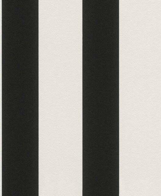 Tapete Vlies Gestreift creme schwarz 700275 Rasch Tapete Prego (1,68€/1qm)