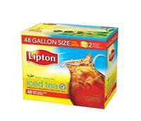 Lipton Black Iced Tea Bags, Gallon Size 48 Ct, New, Free Shipping on sale