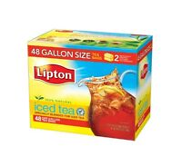 Lipton Black Iced Tea Bags, Gallon Size 48 Ct, New, Free Shipping on sale