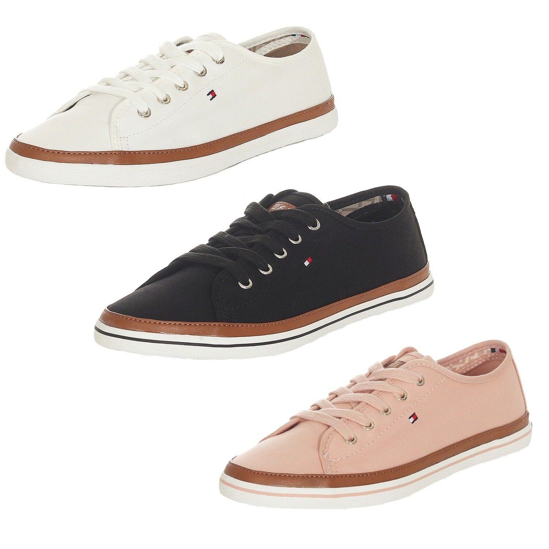 Tommy Hilfiger Damen Sneaker ICONIC KESHA Schuhe 3 Farben Weiß Navy Rose