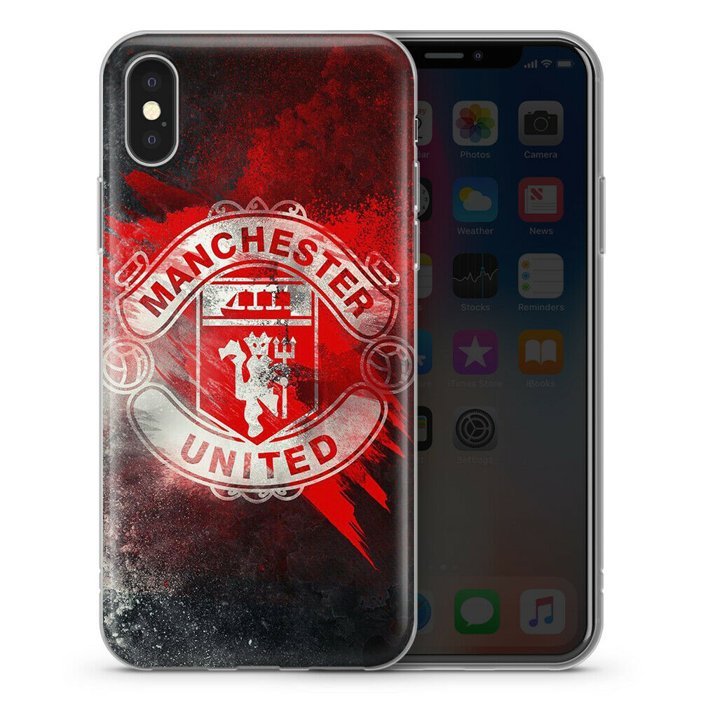 MANCHESTER REDS FOOTBALL  CASUALS ULTRA FIRM  RETRO  GEL TPU IPHONE CASE COVER