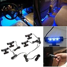 4x 12V Blue LED Car Auto Interior Dash Floor Decoration Floor Accent Light Lamp