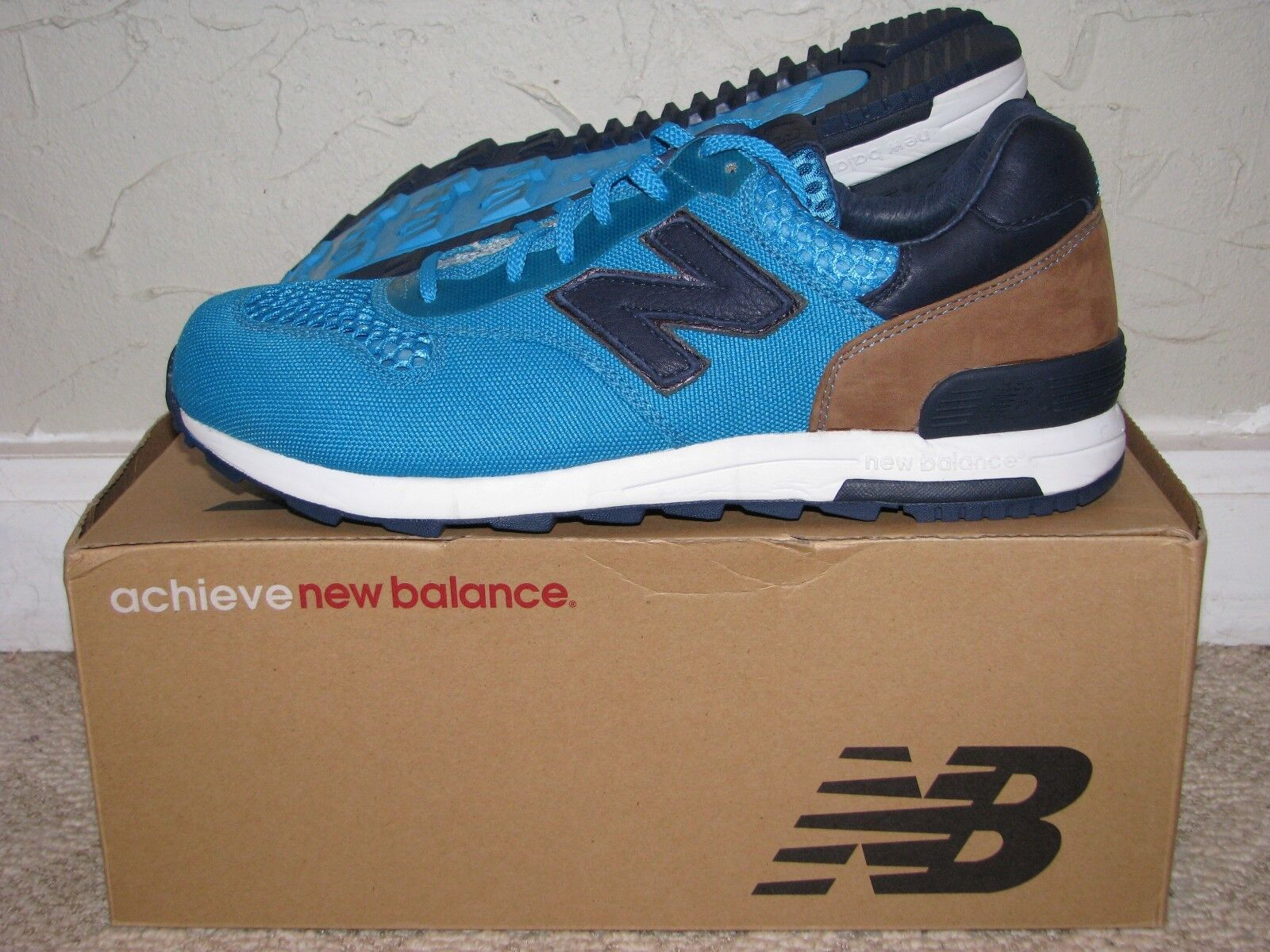 New Balance M1400BB Aqua bluee     Navy bluee Size 9.5 EUC  574 576 577 580 998 966332