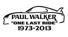 Paul Walker un' ultima corsa auto JDM Novelty Vinile Decalcomania adesivo veloce e furiosa 7