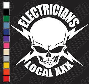 Union Skull Ibew Electric Lineman Lightningbolt