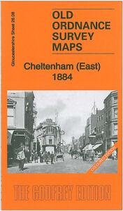 OLD ORDNANCE SURVEY MAP CHELTENHAM EAST 1884 FAIRVIEW PITTVILLE BATTLEDOWN