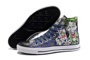 9e30cf682702 MENS Converse DC Comics Joker Batman High Tops Hi 122135F Shoes New ...