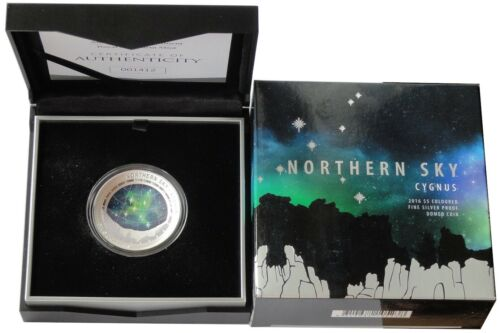 Australia 5 Dollars 1 Oz Silver Northern Starry Sky Swan 2016 Proof