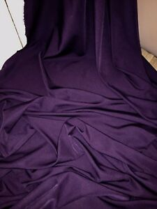 "3 MTR CADBURY PURPLE 100/% POLYESTER LINING FABRIC...45/"" WIDE SPECIAL OFFER £4.50"
