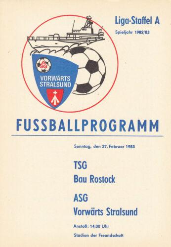 DDR-Liga 82/83 ASG Vorwärs Stralsund TSG Bau Rostock 27.03.1983
