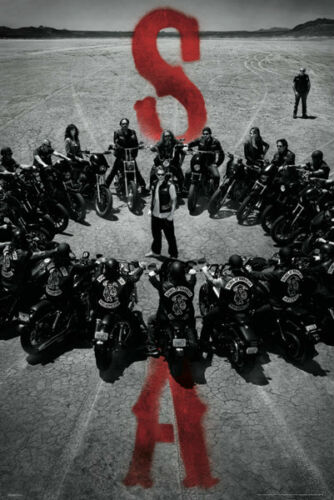 Sons of Anarchy Bike Circle poster California drama series highest rated series