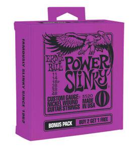 3-PACK-ERNIE-BALL-2220-POWER-SLINKY-NICKEL-ELECTRIC-GUITAR-STRINGS-11-48