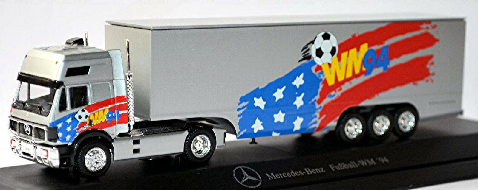 liquidación hasta el 70% Mercedes Benz SK EuroCab koffersattelzug koffersattelzug koffersattelzug fútbol-WM '94 1 87 Herpa  artículos de promoción