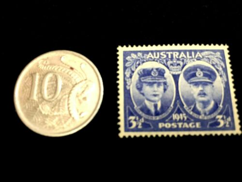 Unsed Stamp /& 10 Cents Used Coin Australia Collection Educational Item