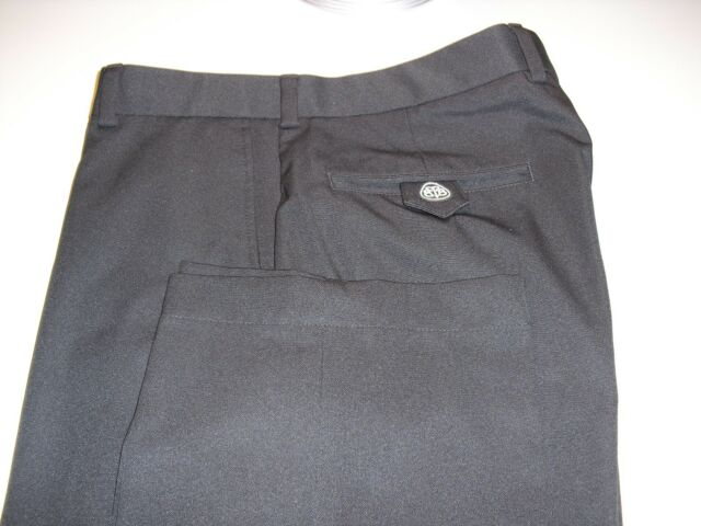 MINT! BROOKS BROTHERS COUNTRY CLUB PROSPORT FLAT FRONT PANTS BLACK 33X30