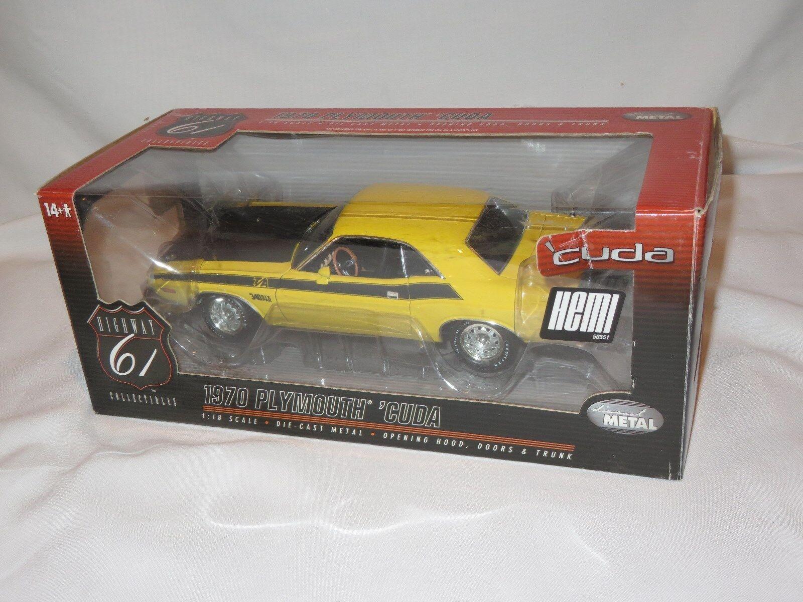 Highway 61 2018 Dodge Challenger T/a menta amarillo coche en Caja Plymouth Cuda