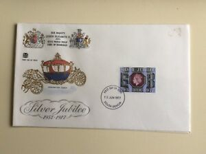 Post-Office-First-Day-Cover-Silver-Jubilee-1952-1977