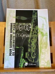 P. Iturralde Memorias pour saxophone soprano et piano partition ed. Lemoine