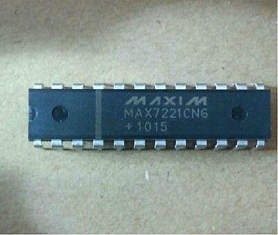 5PCS MAX7221CNG MAX7221 MAXIM DRVR DSPLY LED 8DIG 24-DIP NEW