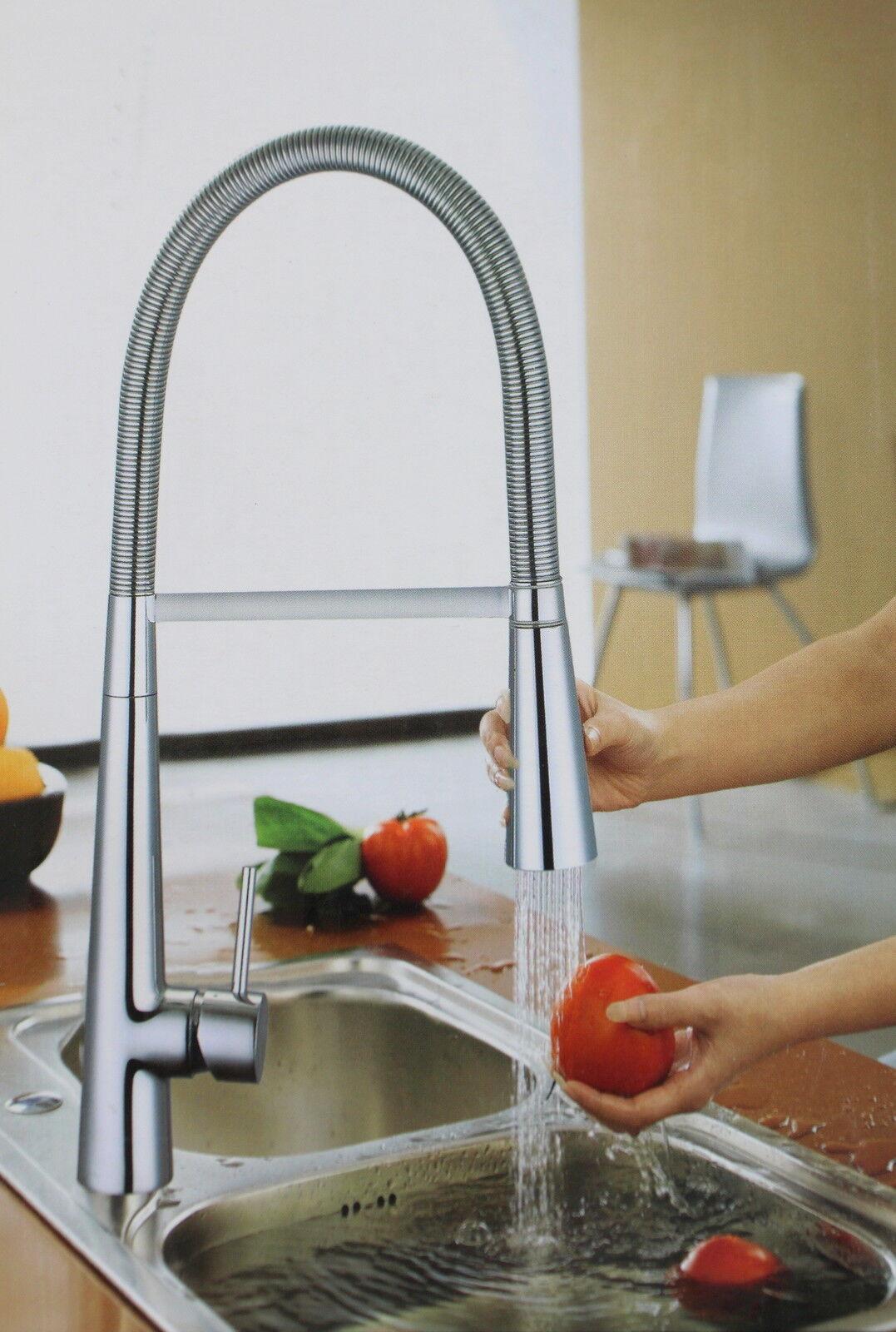 Spüle Armatur Küche Wasserhahn mit Handbrause Einhebelmischer Spiralfeder | Kostengünstig  | Professionelles Design  | Verschiedene Arten und Stile  | Outlet