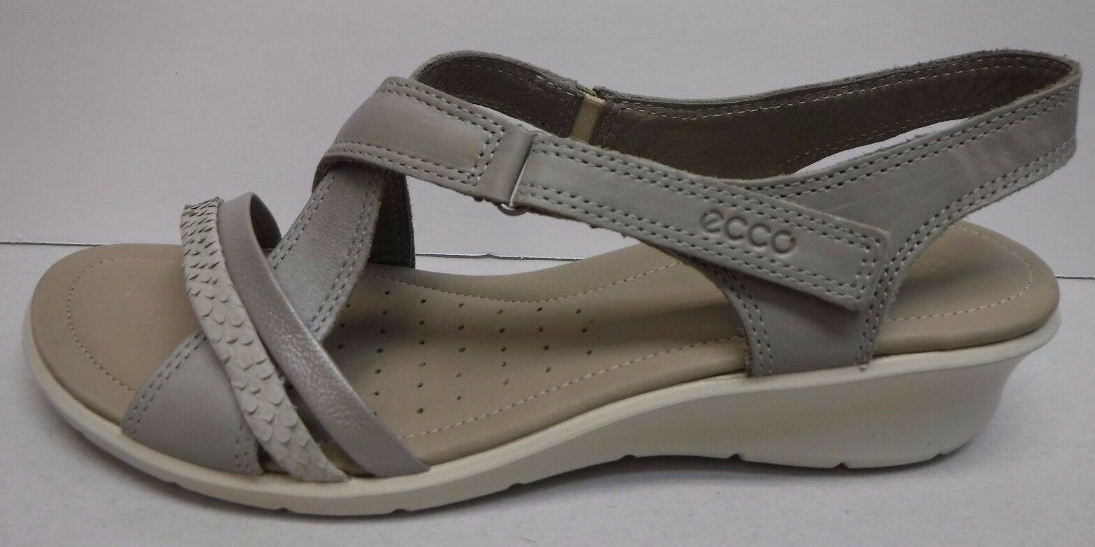 Ecco Dimensione Eur 41 US 10 10.5 grigio Leather Sandals Sandals Sandals New donna scarpe b629a7