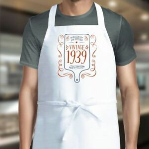 30th Birthday Apron Gift White For Mens Womens Present Baking Cooking BBQ Gift