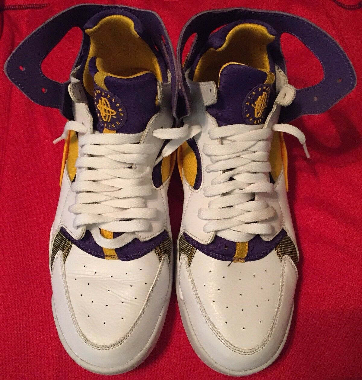 Nike air volo huarache los angeles lakers kobe bryant pe dimensioni
