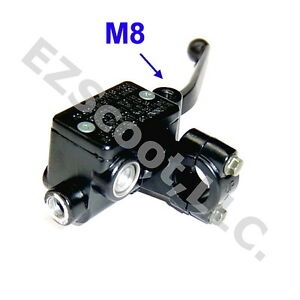 Details about HYDRAULIC BRAKE MASTER CYLINDER RIGHT 22MM LEVER M8 GY6  SCOOTER MOPED ZNEN TANK