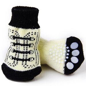 2 paar hund sneakers muster anti rutsch socken tatzen abdeckung schuh ebay. Black Bedroom Furniture Sets. Home Design Ideas