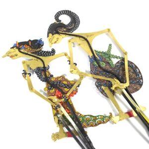 Wayang Kulit Arjuna And Srikandi Leather Puppet Miniatures Indonesian Ebay